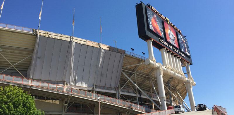 stadium painting